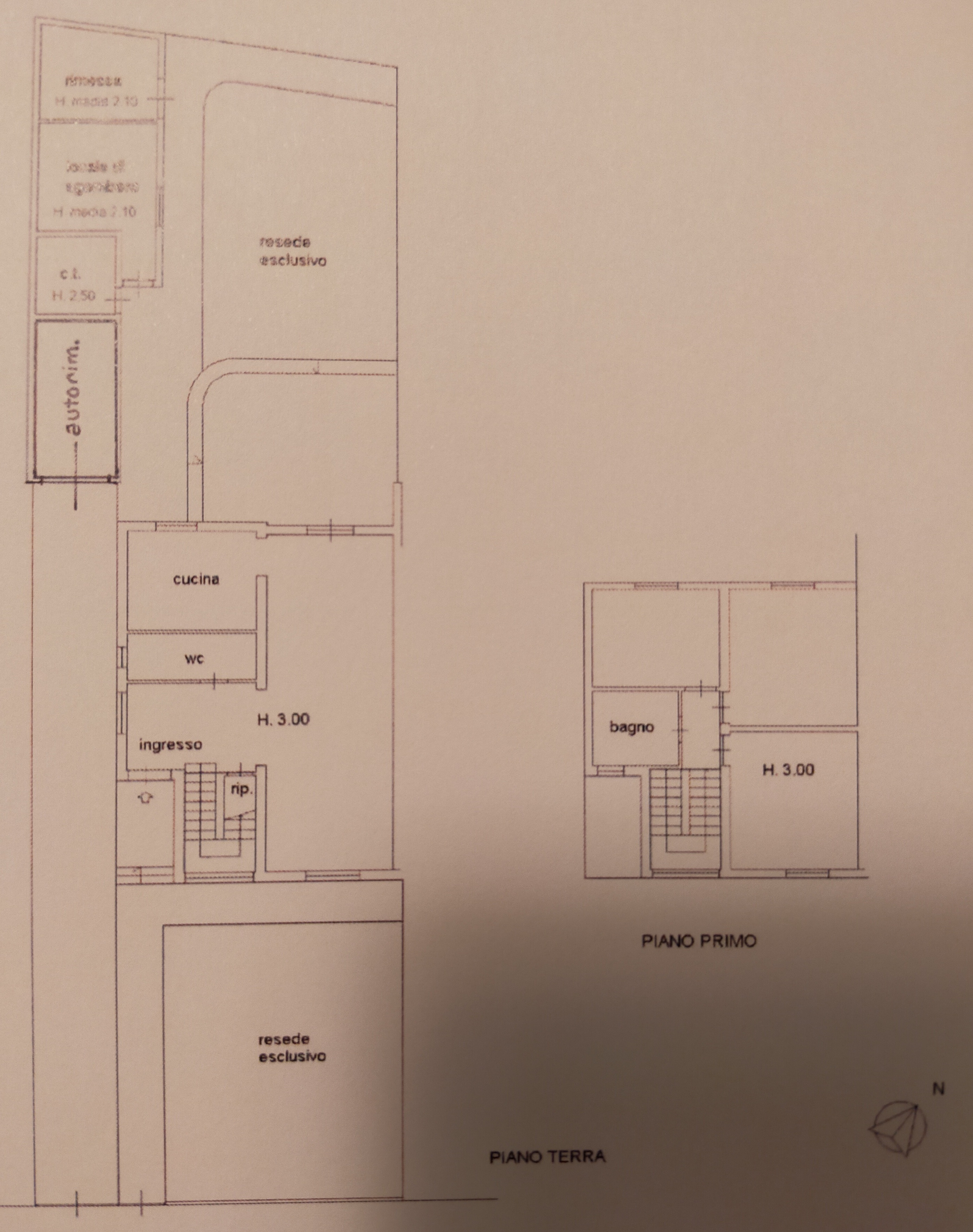 Planimetria 1/1 per rif. 2pt/245