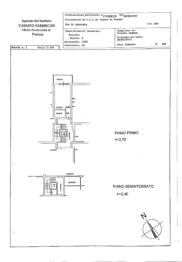 Planimetria 1/1 per rif. 2pt/246