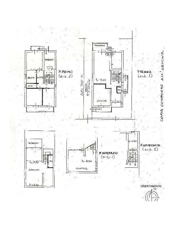Planimetria 1/1 per rif. 2pt/258