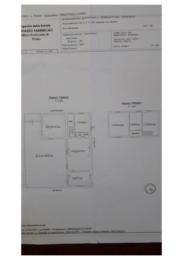 Planimetria 1/1 per rif. 3po/104