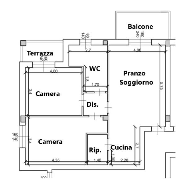 Planimetria 1/1 per rif. 3po/105