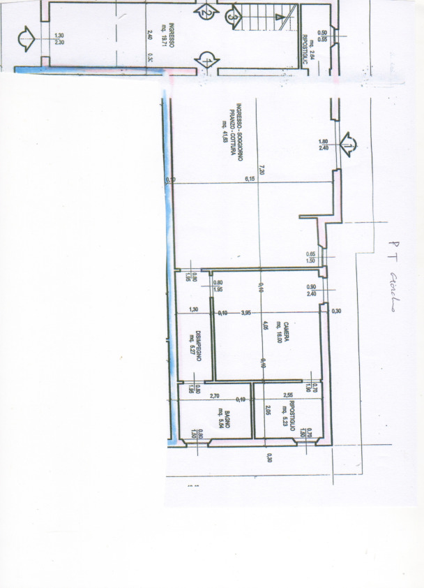 Planimetria 1/1 per rif. 2pt/315