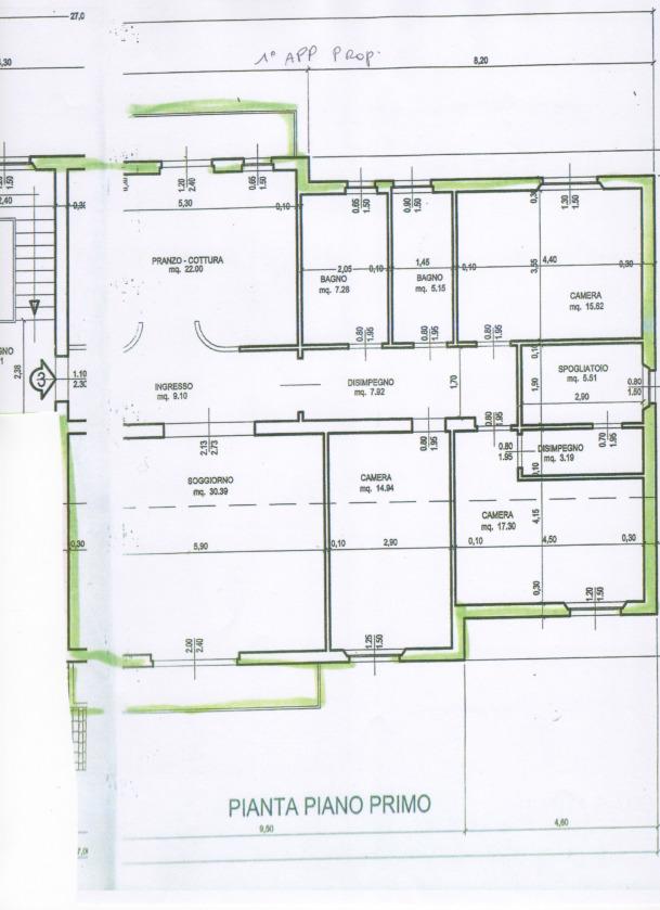 Planimetria 1/1 per rif. 2pt/316