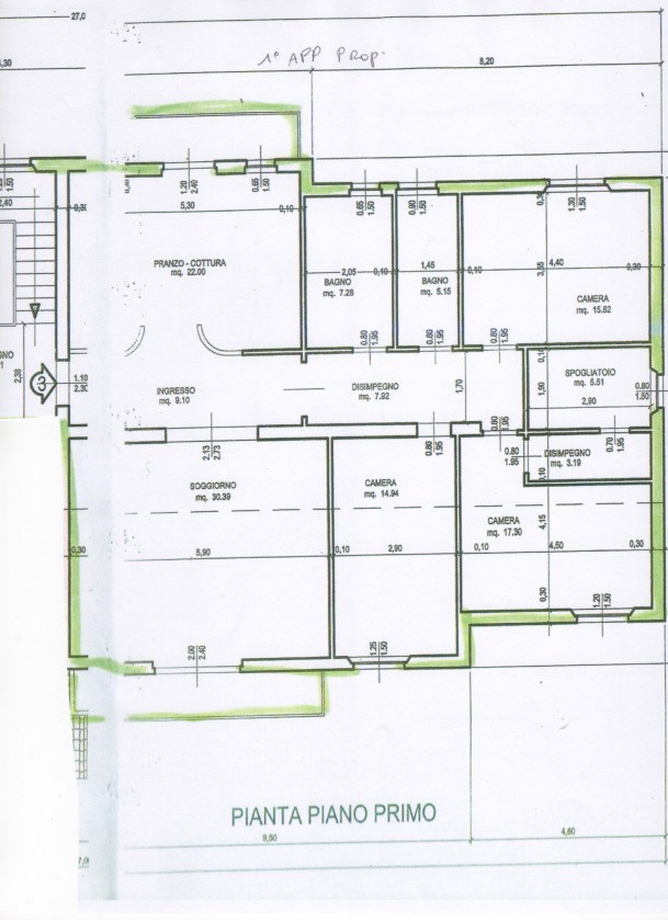 Planimetria 1/1 per rif. 2pt/317