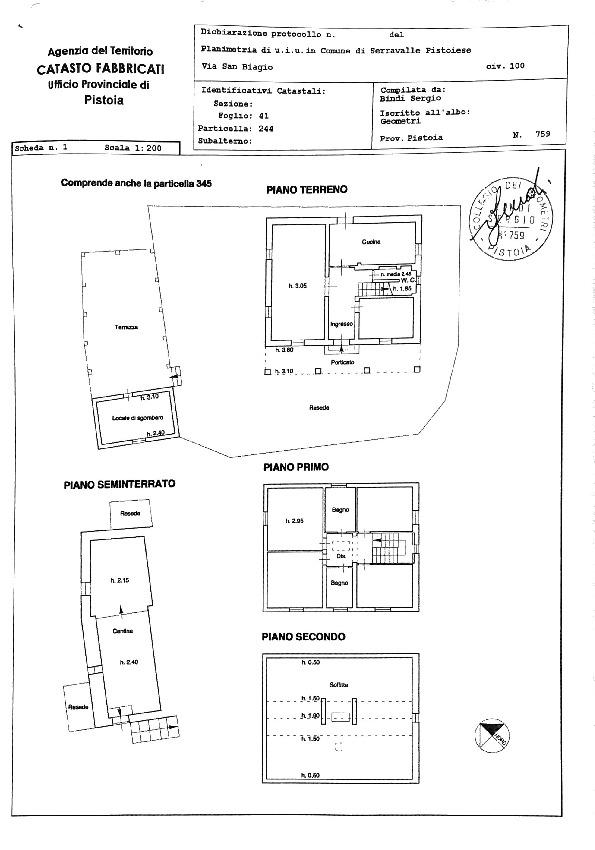 Planimetria 1/1 per rif. 2pt/335