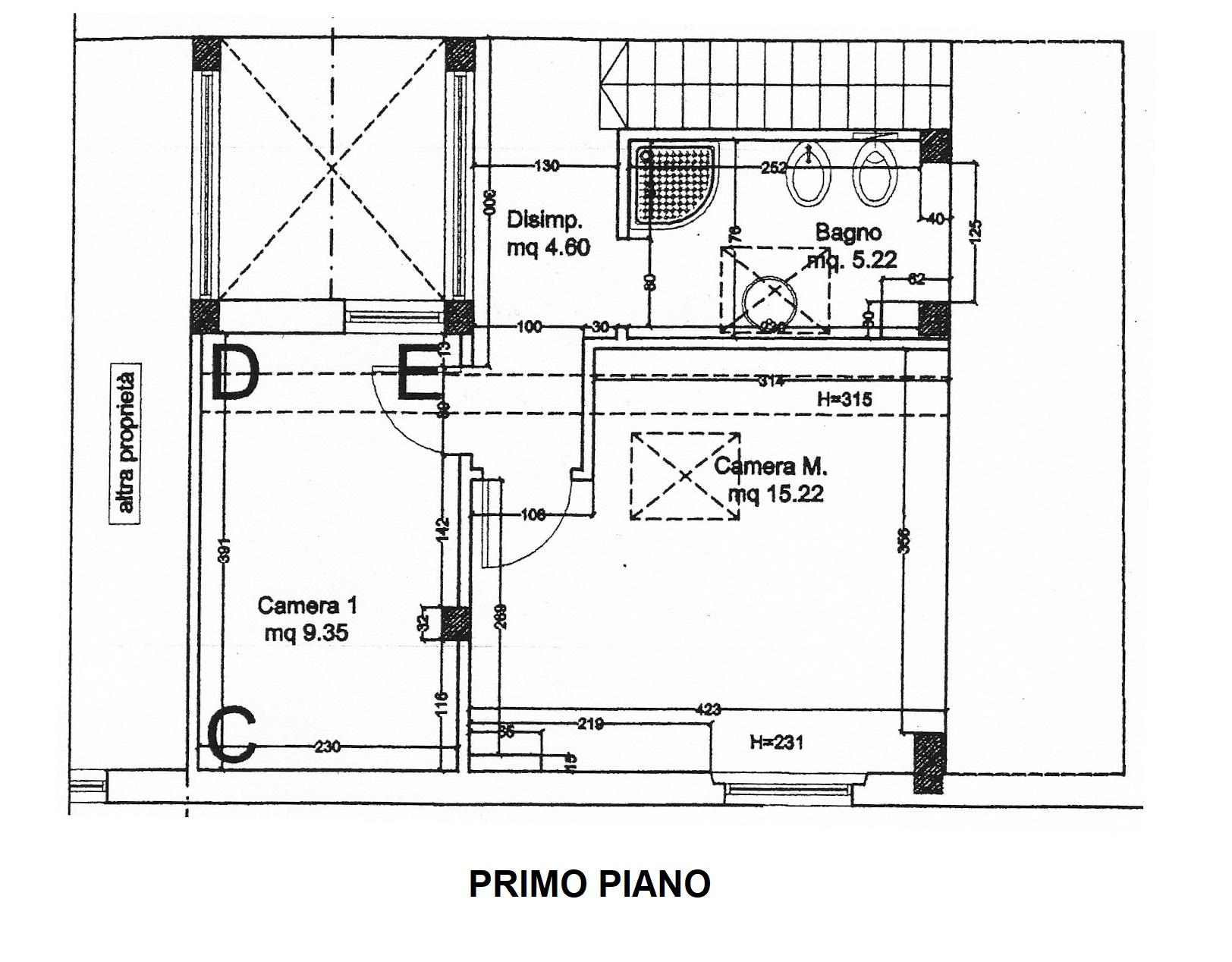 Planimetria 1/2 per rif. 20/917