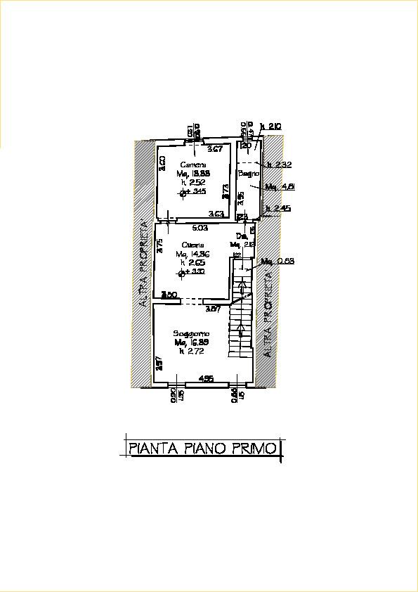 Planimetria 1/3 per rif. 20/937