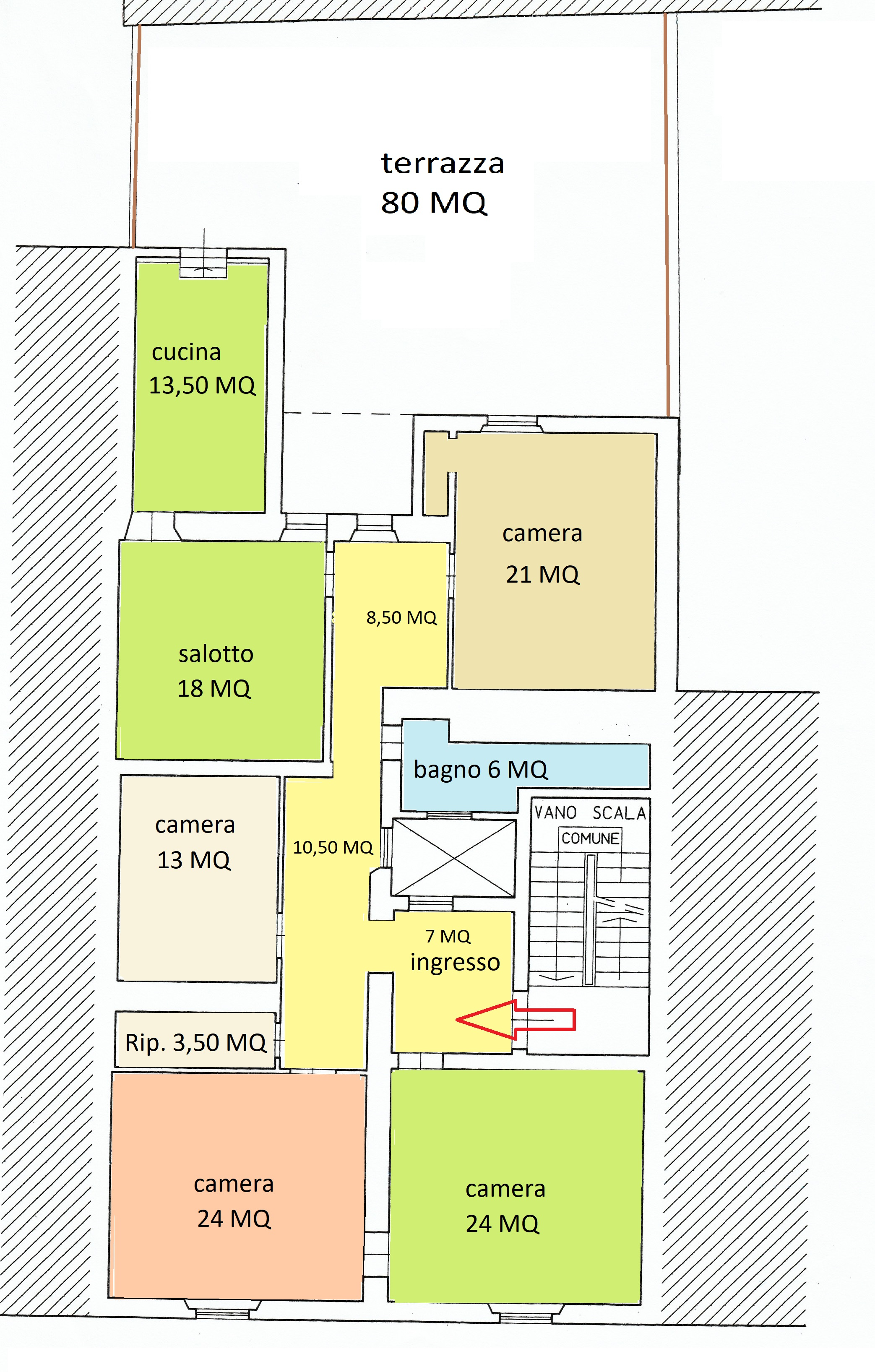 Planimetria /1 per rif. B/235