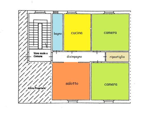 Planimetria 1/1 per rif. B/279