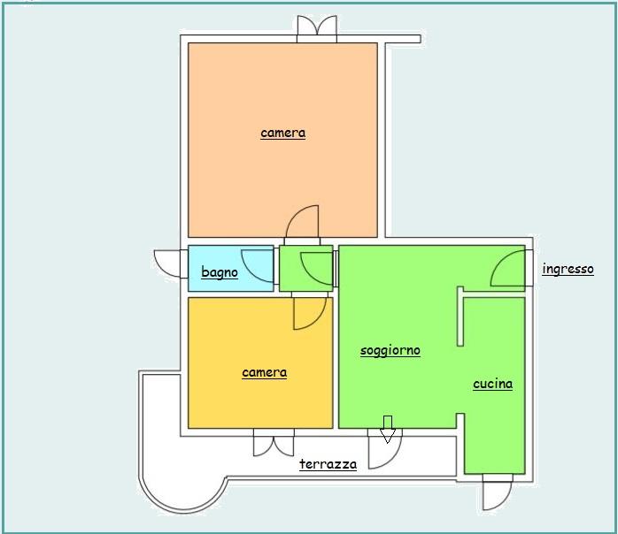 Planimetria /1 per rif. B/280