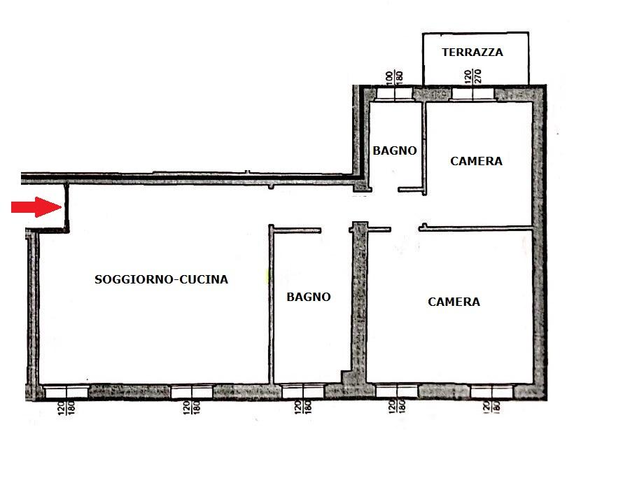 Planimetria 1/1 per rif. B/286