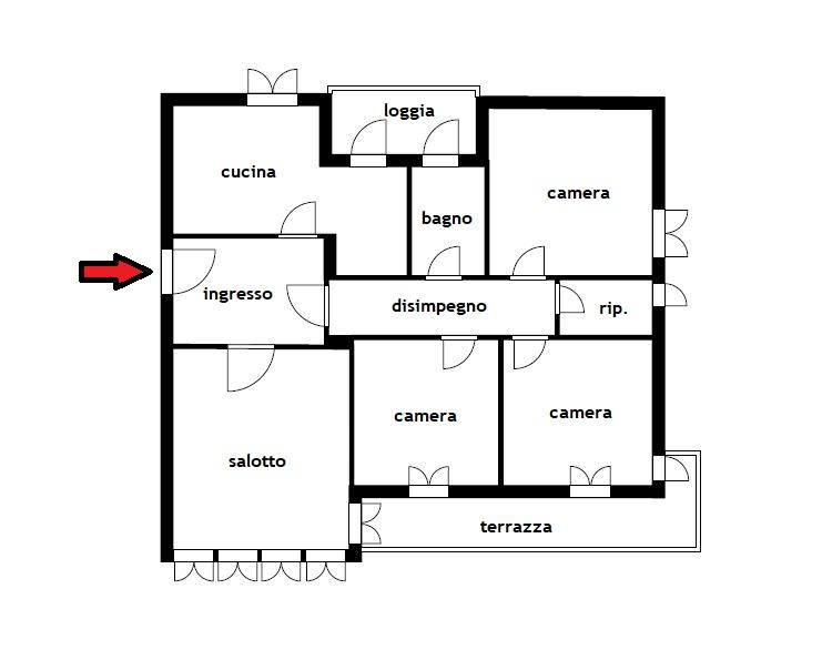 Planimetria 1/1 per rif. B/289