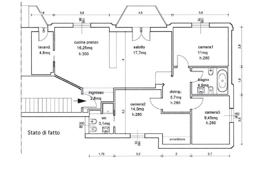 Planimetria 1/1 per rif. B/297