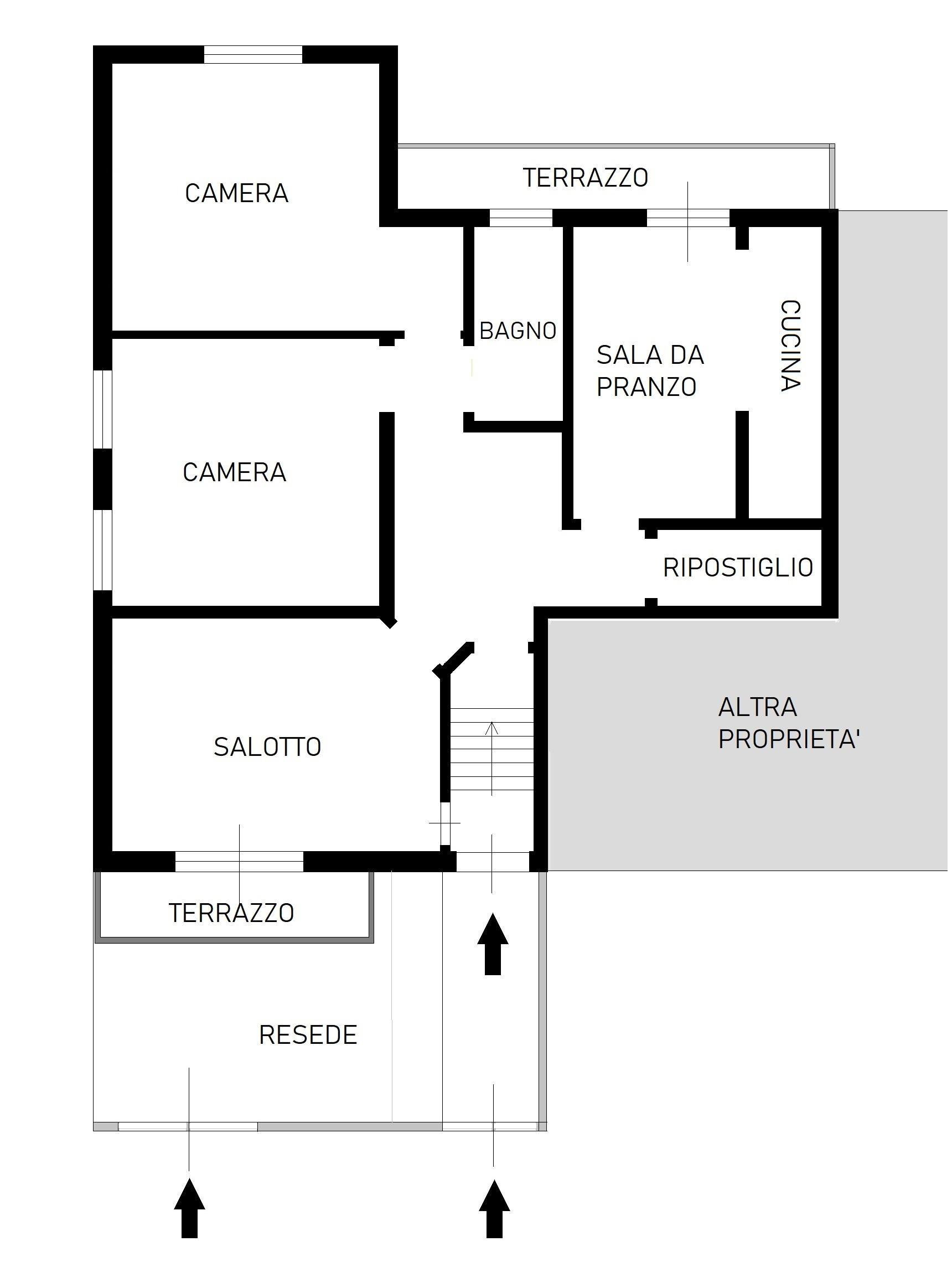 Planimetria 1/1 per rif. B/172