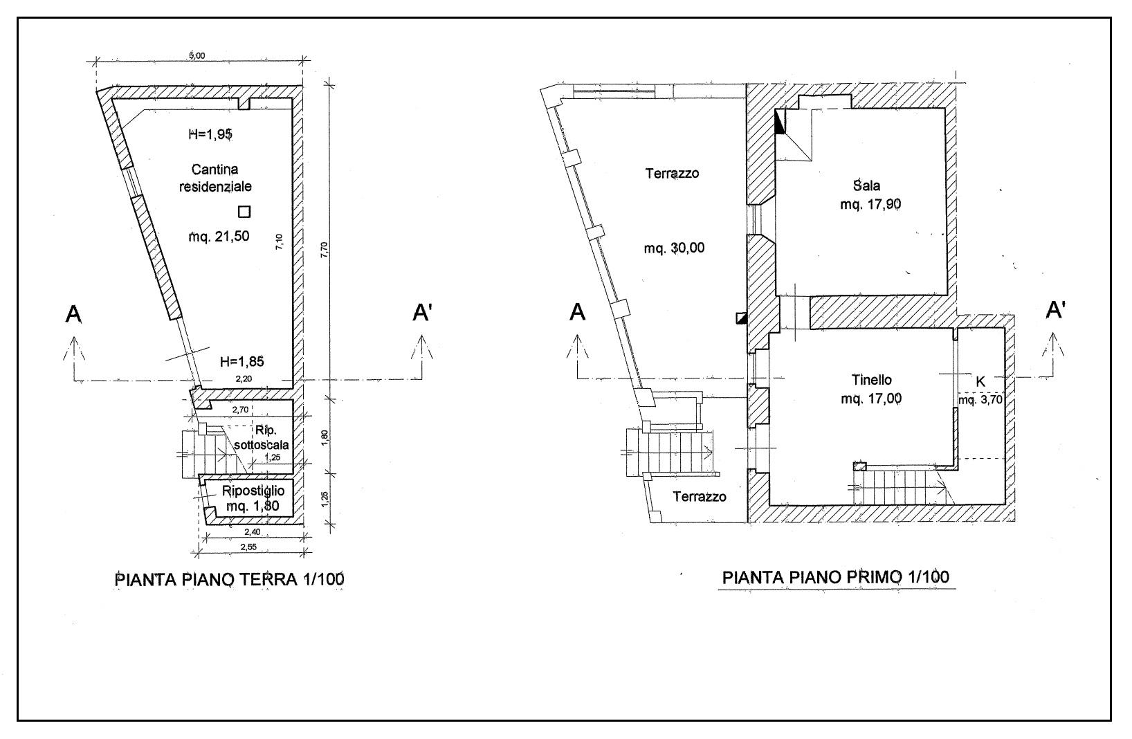 Planimetria 1/2 per rif. 20/980