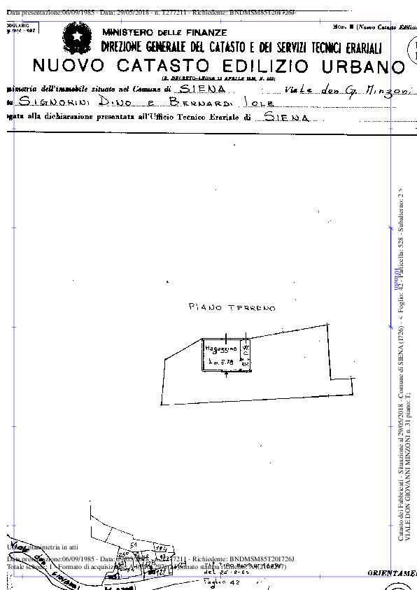 Planimetria 1/1 per rif. 008