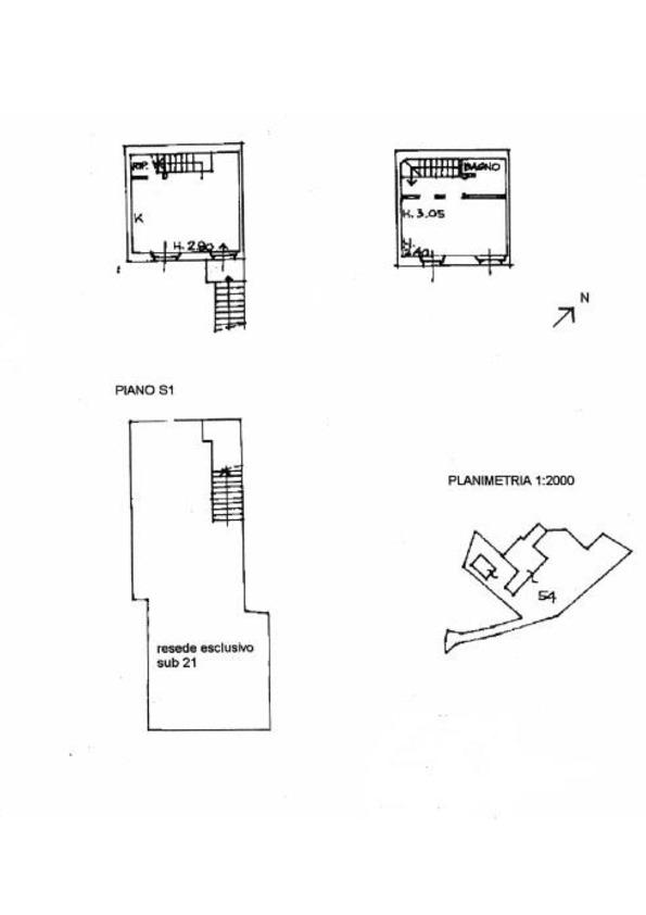Planimetria 1/1 per rif. 017