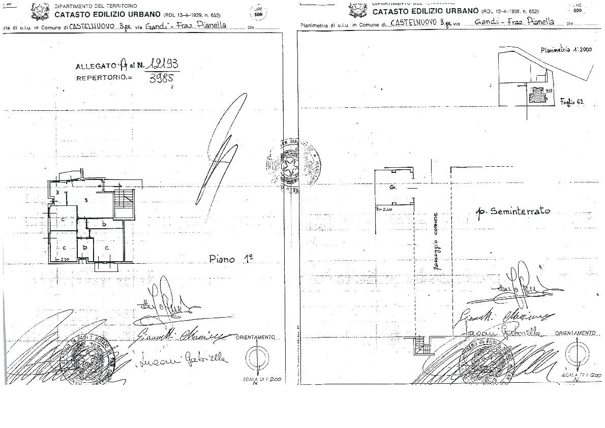 Planimetria 1/1 per rif. 052