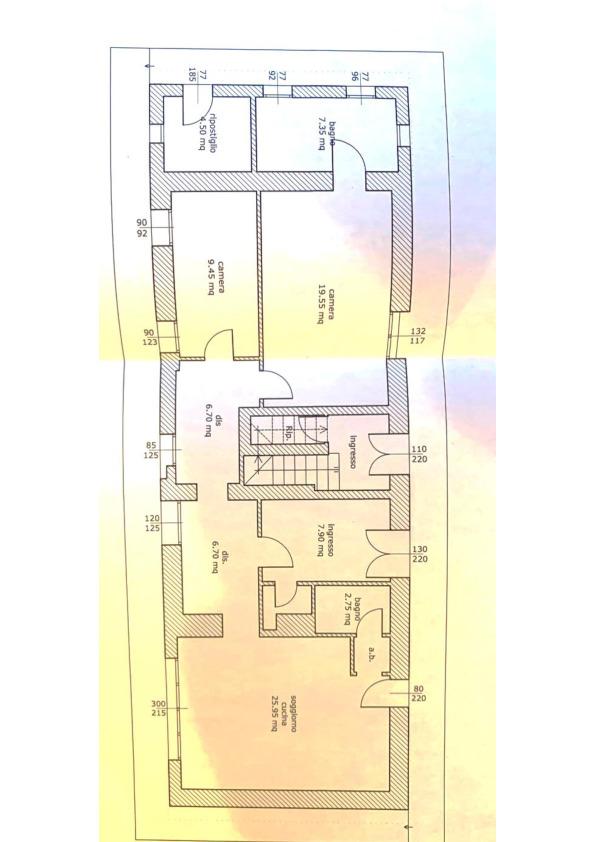 Planimetria 1/2 per rif. 053