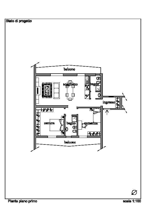 Planimetria 2/2 per rif. 060