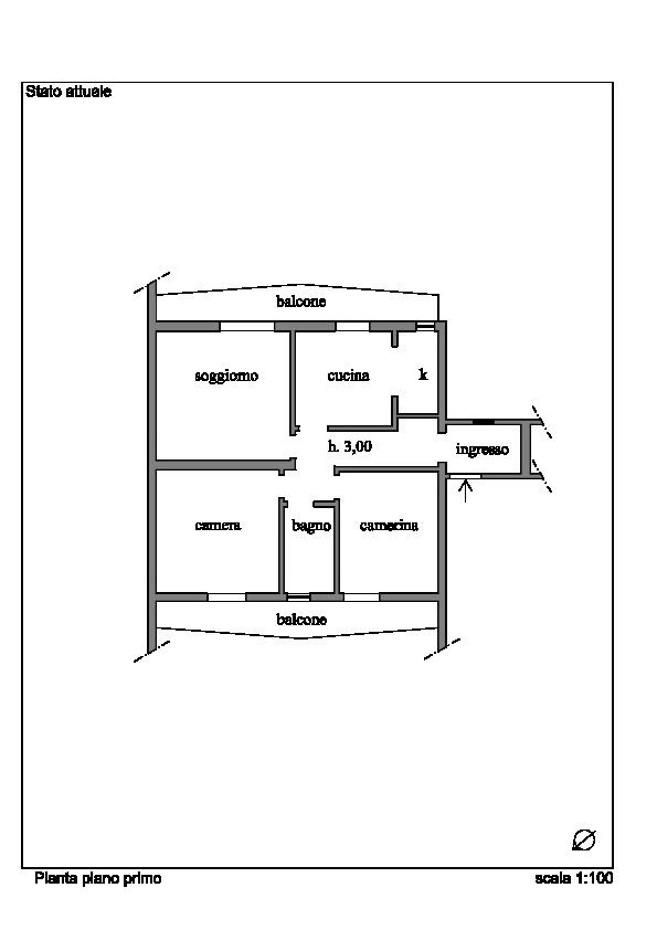 Planimetria 1/2 per rif. 060