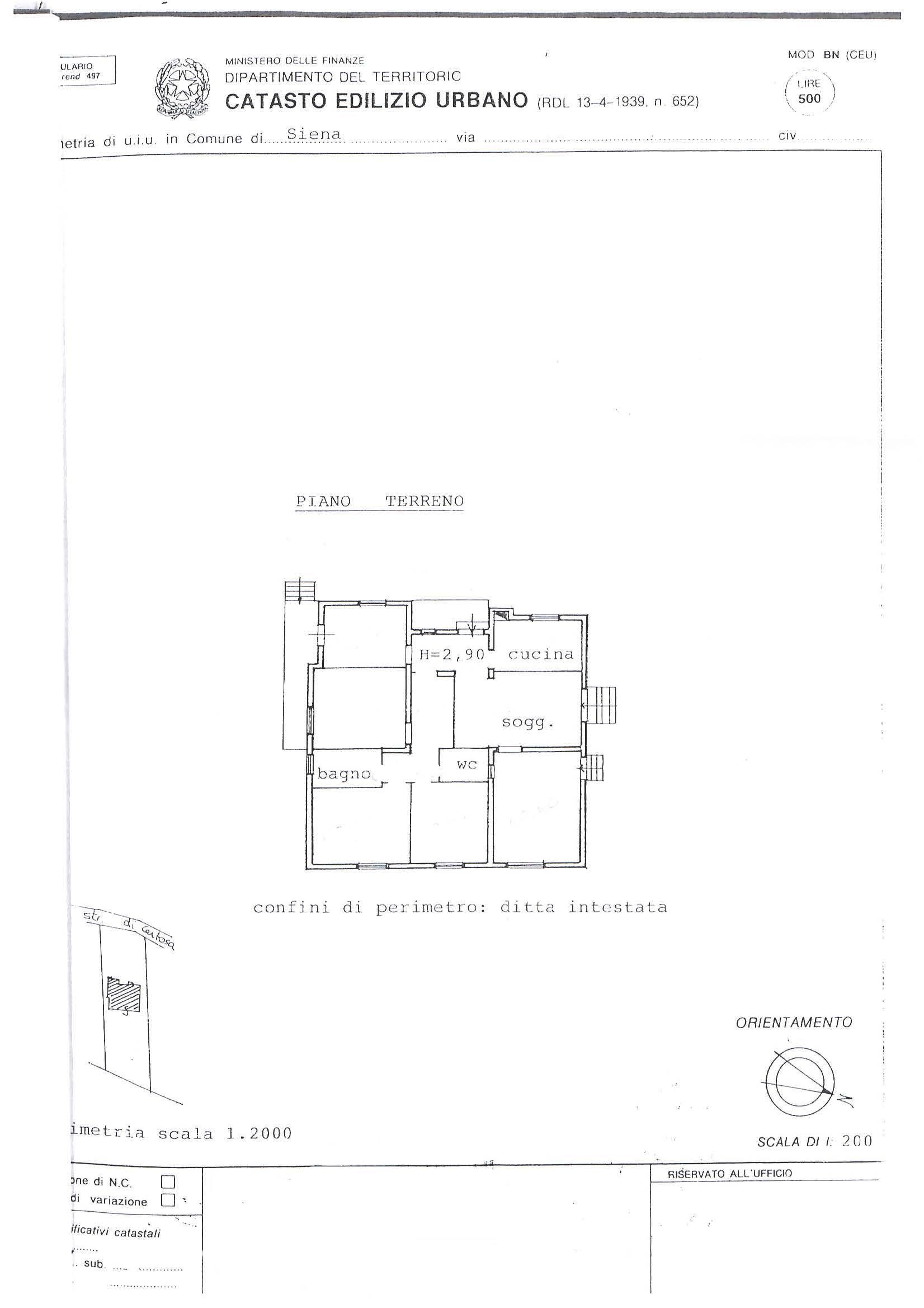 Planimetria 1/3 per rif. 074