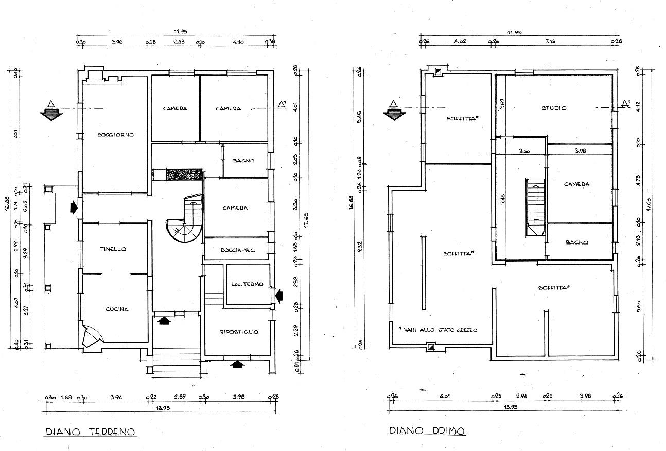 Villa singola in vendita, rif. 01813 (Planimetria 1/1)