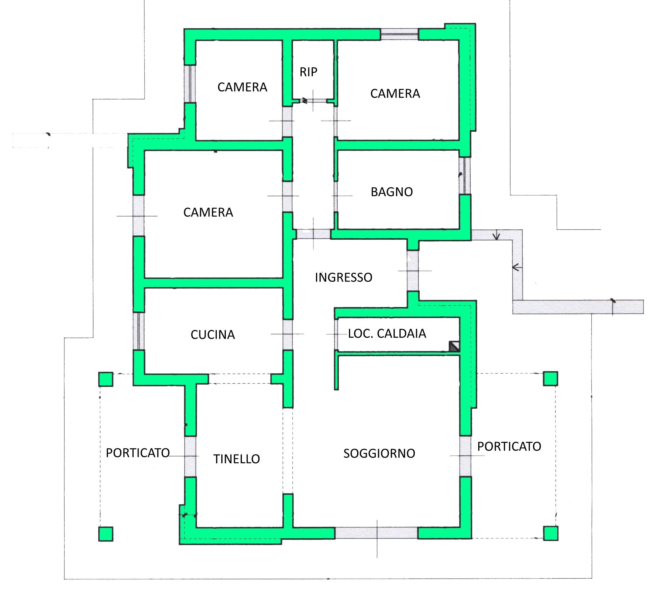 Villa singola in vendita, rif. 01596 (Planimetria 1/1)