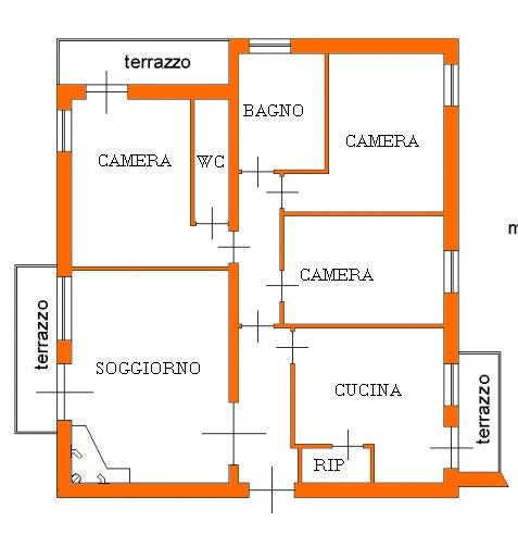 Appartamento in vendita, rif. 01895 (Planimetria 1/1)