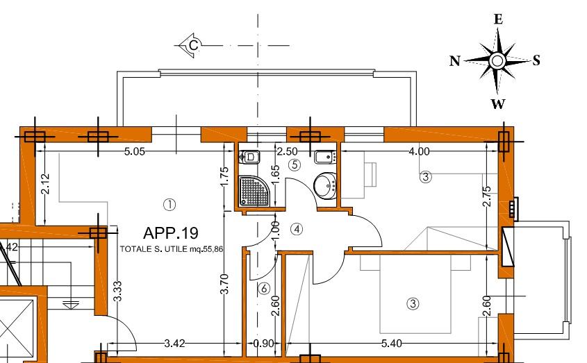 Appartamento in vendita, rif. 01345/1 (Planimetria 3/3)