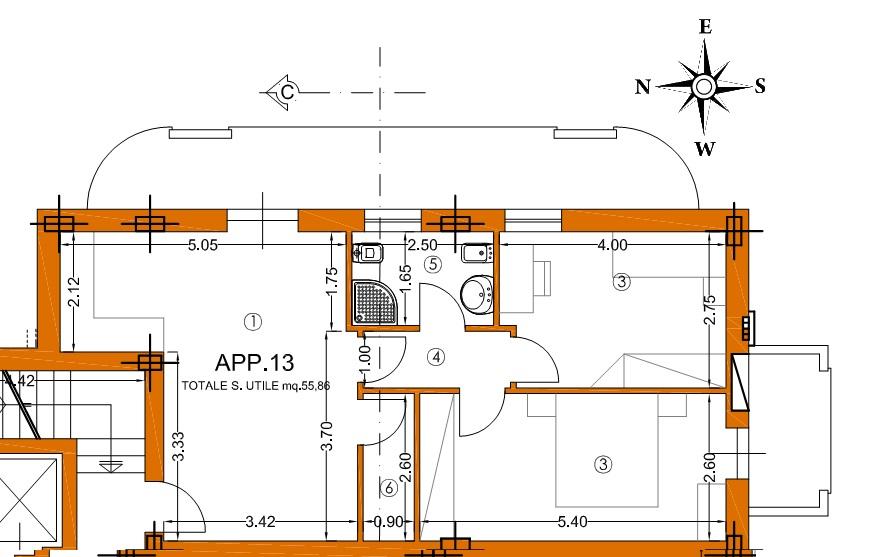 Appartamento in vendita, rif. 01345/1 (Planimetria 2/3)