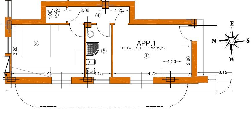 Appartamento in vendita, rif. 01345 (Planimetria 2/3)