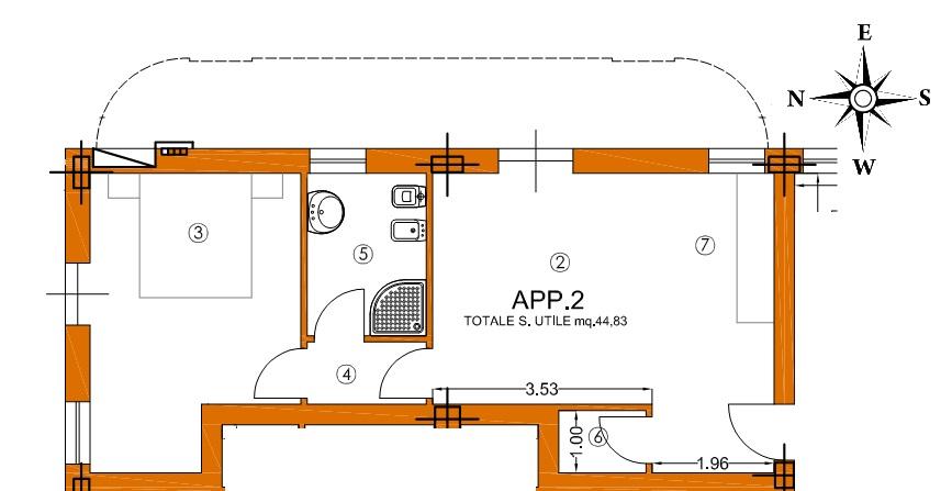 Appartamento in vendita, rif. 01345 (Planimetria 1/3)