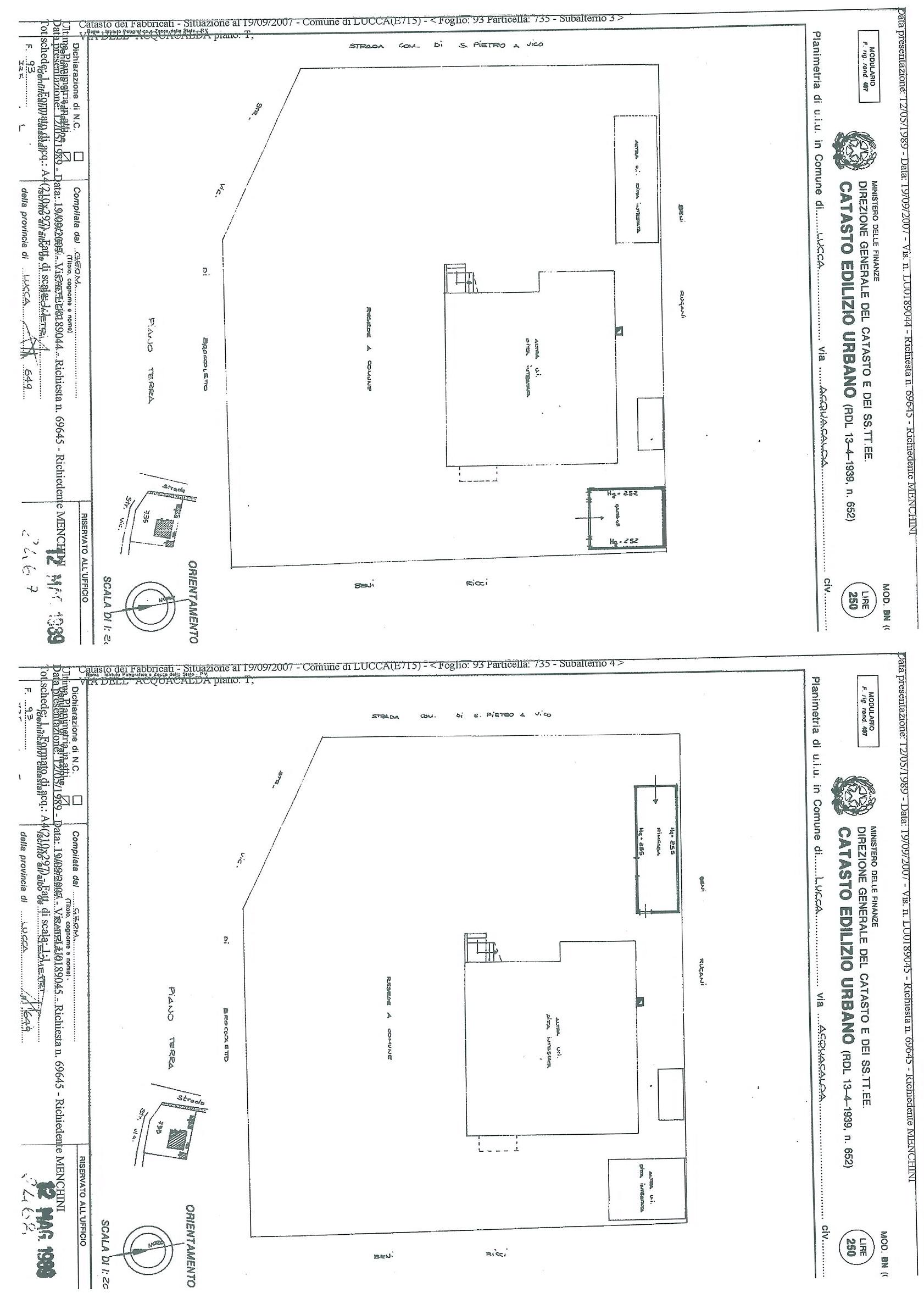 Villa singola in vendita, rif. 01307 (Planimetria 1/2)