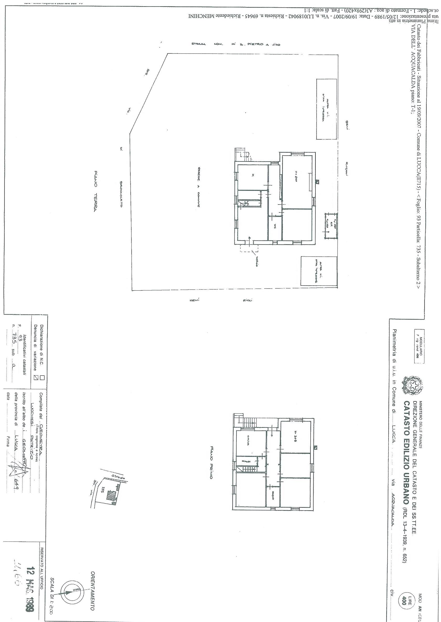 Villa singola in vendita, rif. 01307 (Planimetria 2/2)