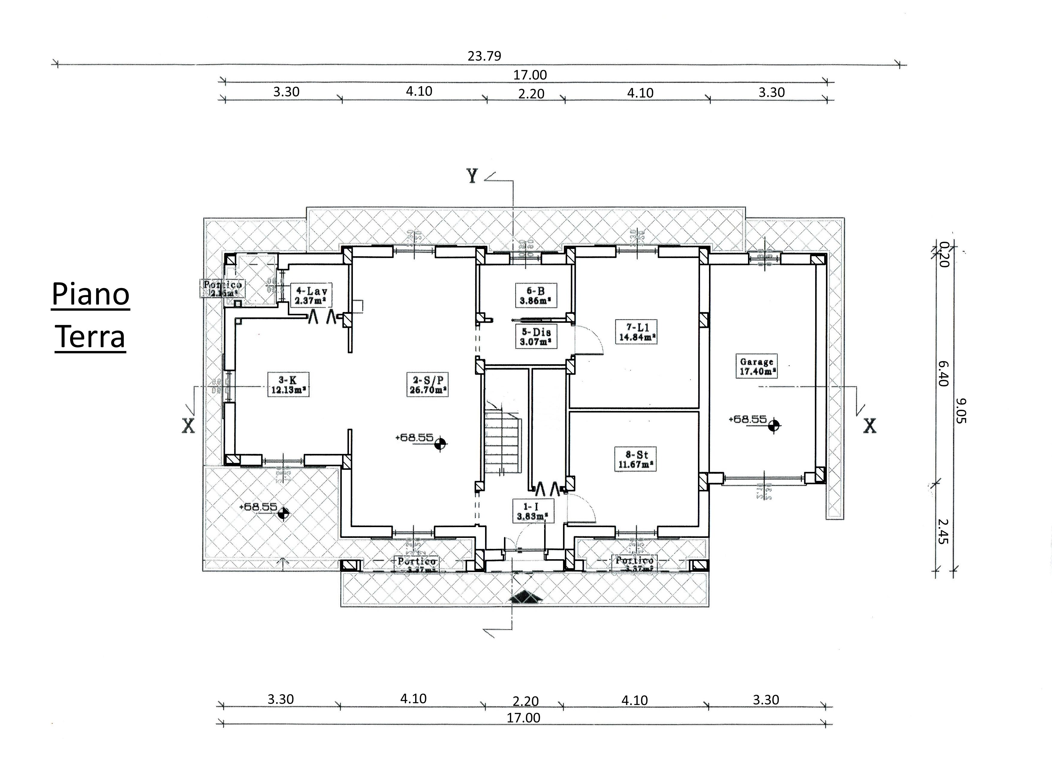 Villa singola in vendita, rif. 00042 (Planimetria 2/2)