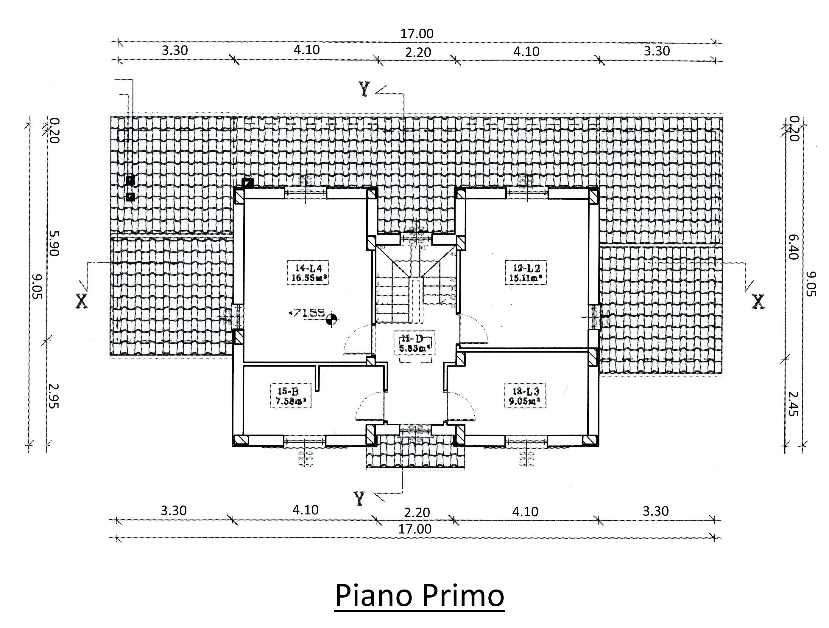 Villa singola in vendita, rif. 00042 (Planimetria 1/2)