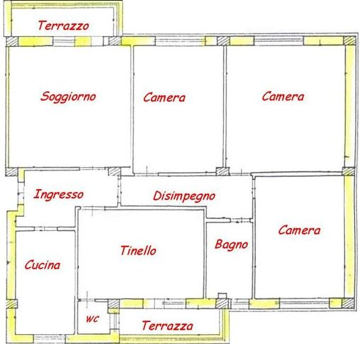 Appartamento in vendita, rif. 00381 (Planimetria 1/1)