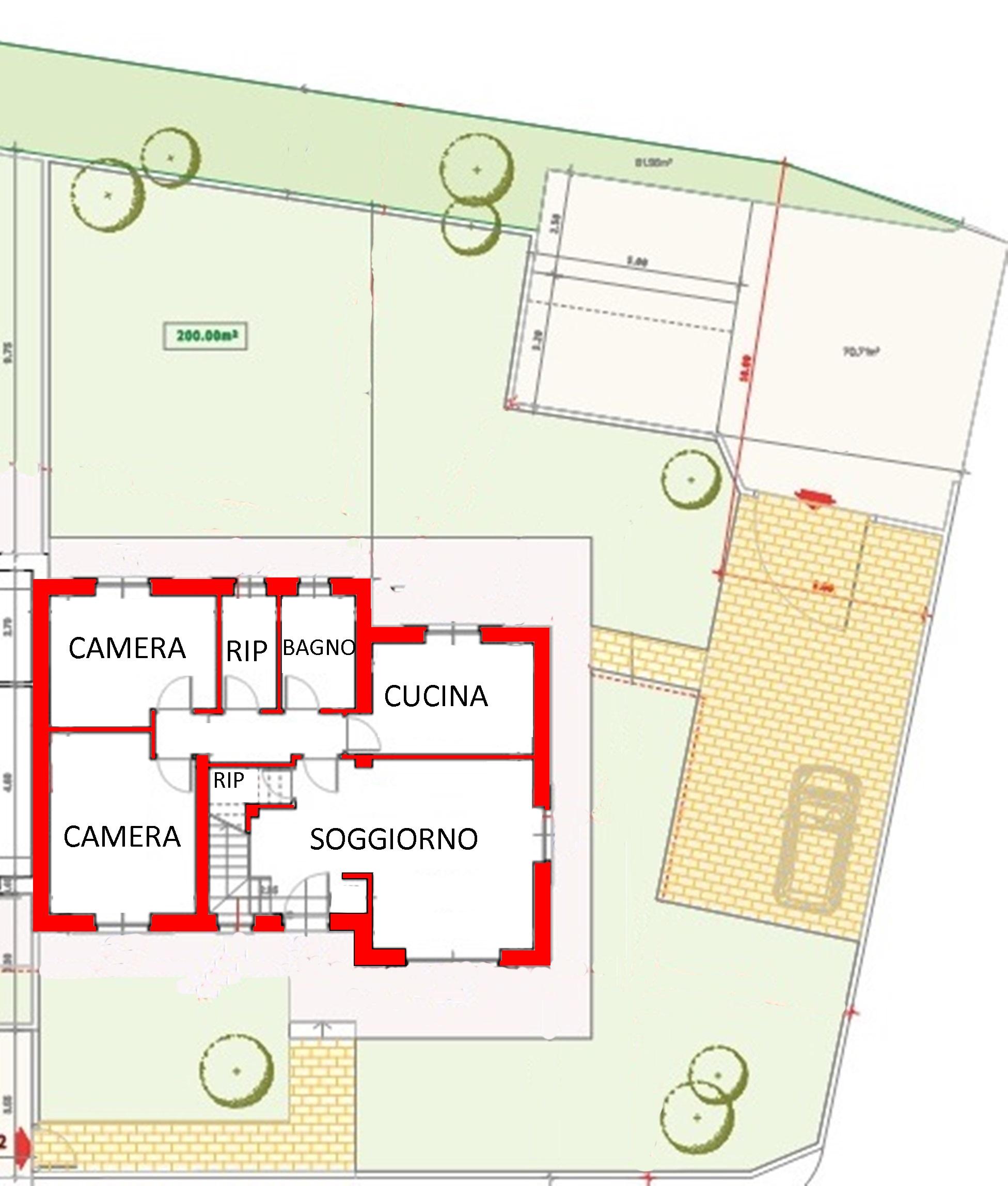 Terreno edif. residenziale in vendita, rif. 01073/9 (Planimetria 1/3)
