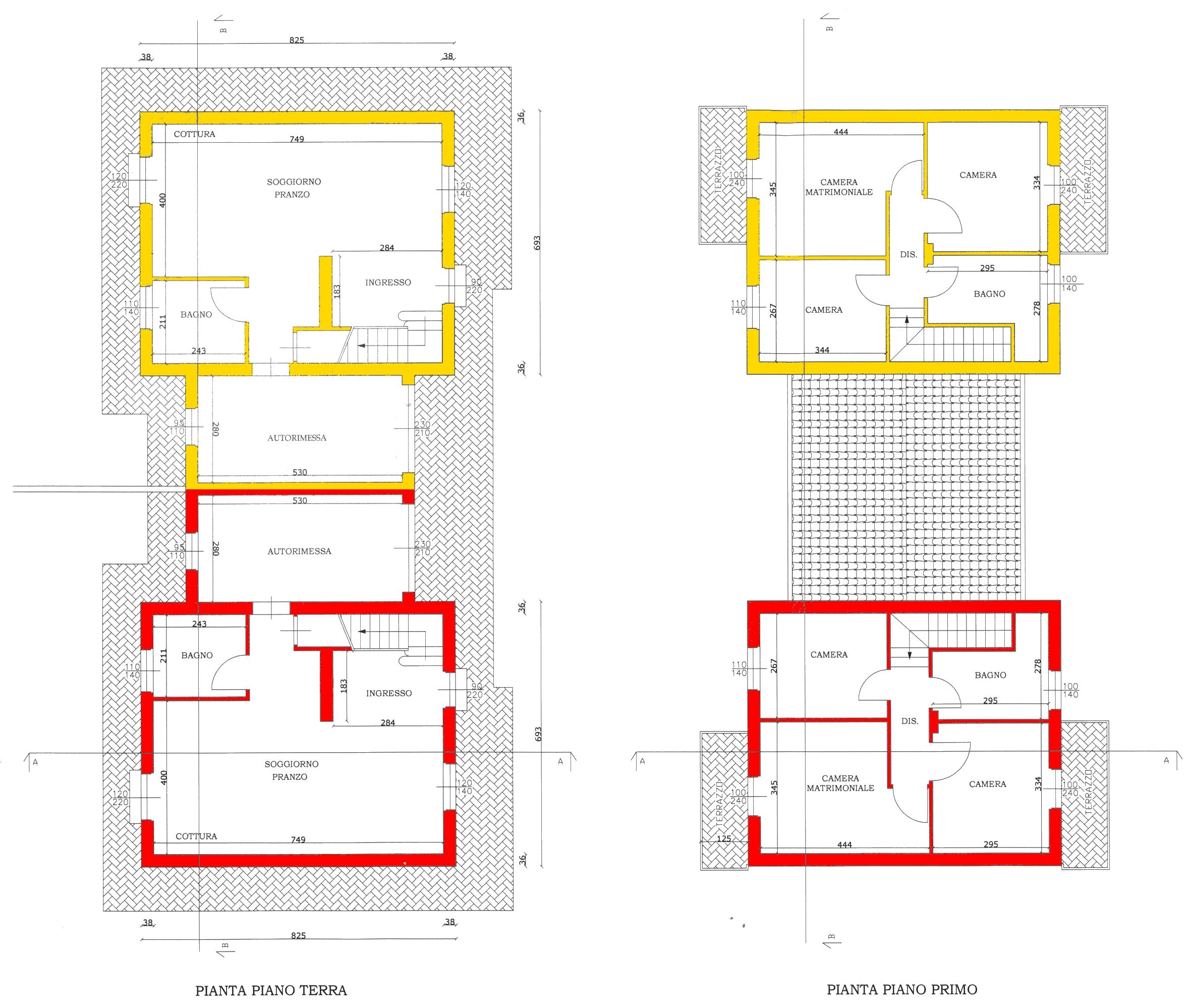 Villetta bifamiliare in vendita, rif. 00003 (Planimetria 1/1)