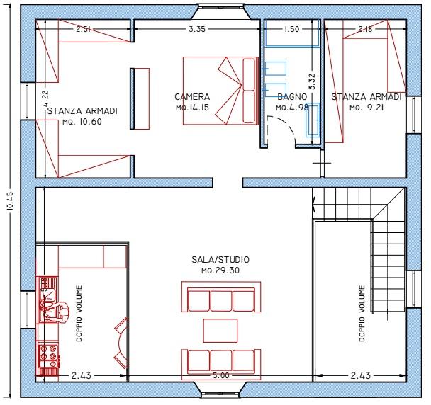 Villa singola in vendita, rif. 01961 (Planimetria 2/2)