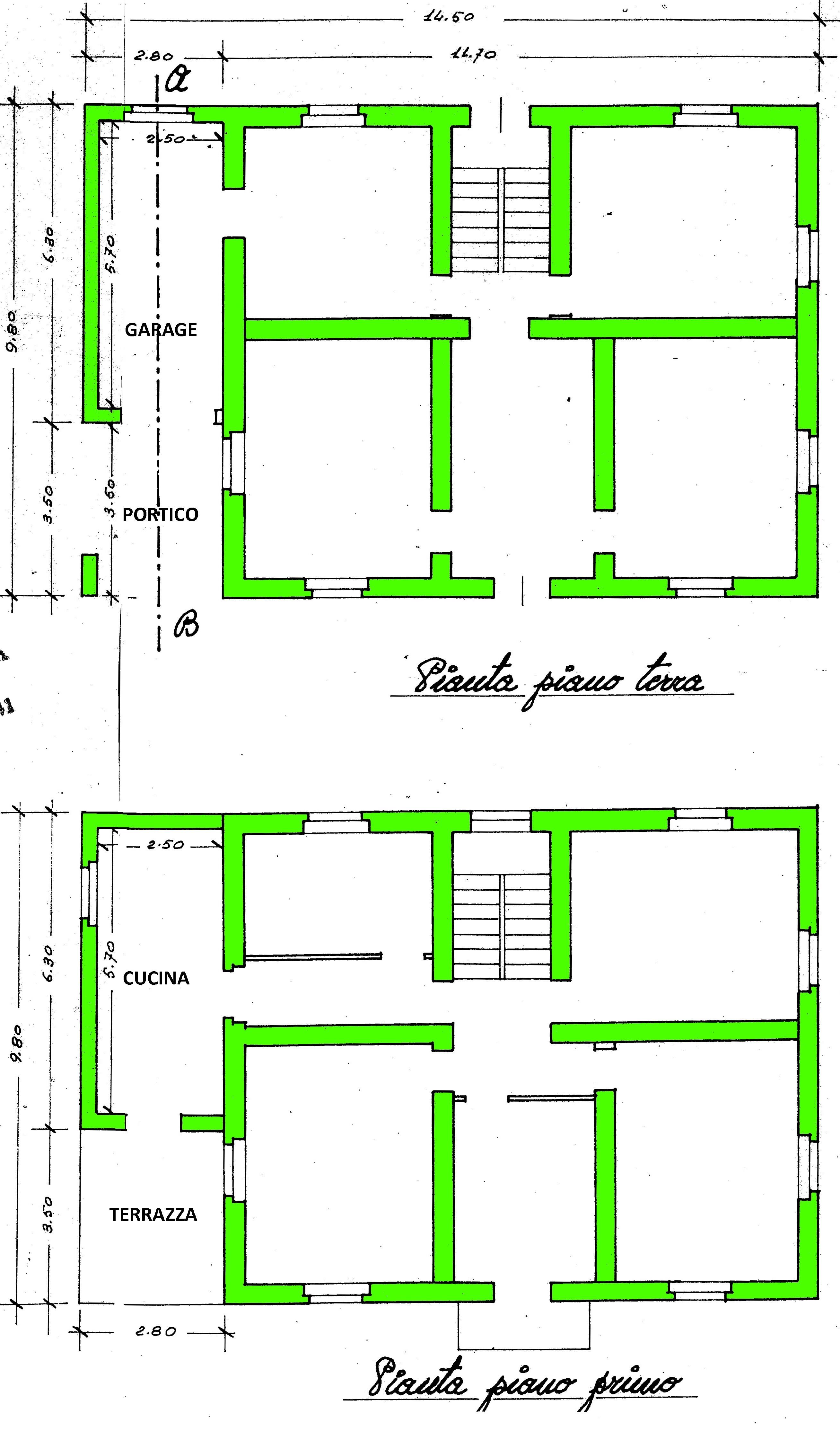 Villa singola in vendita, rif. 01982 (Planimetria 1/2)