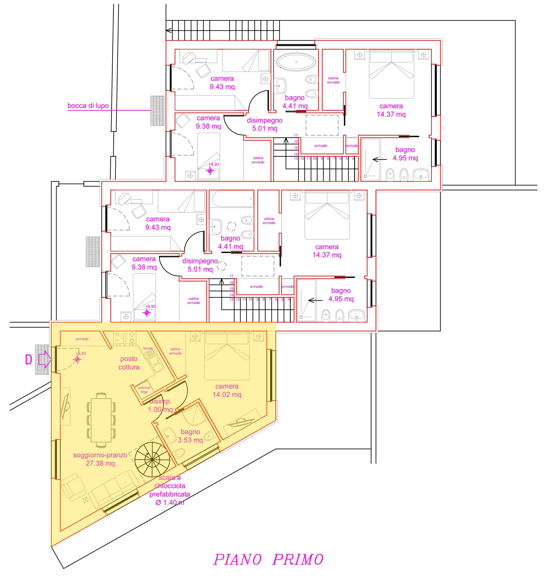 Appartamento in vendita, rif. 02007/1 (Planimetria 1/3)