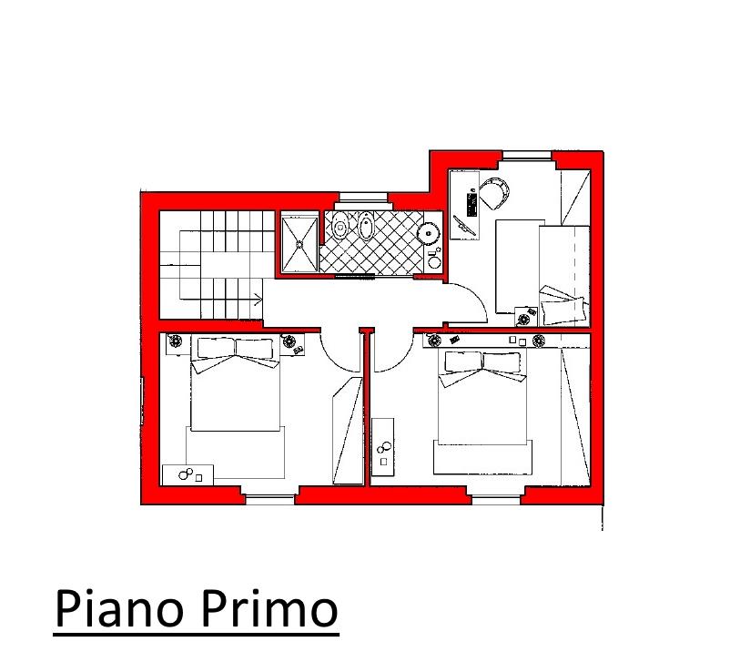 Villetta a schiera in vendita, rif. 02104/1 (Planimetria 2/3)