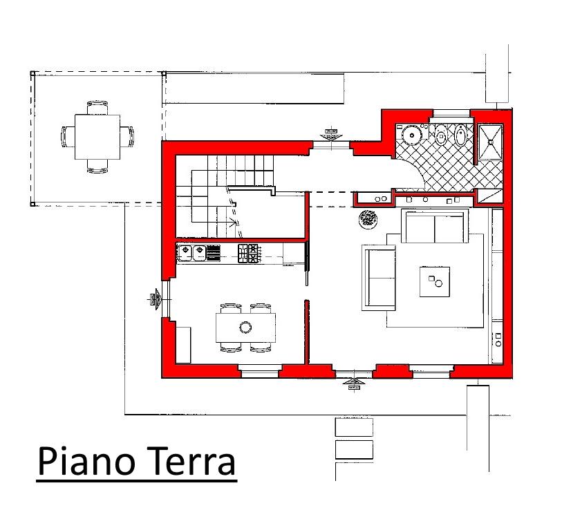 Villetta a schiera in vendita, rif. 02104/1 (Planimetria 1/3)