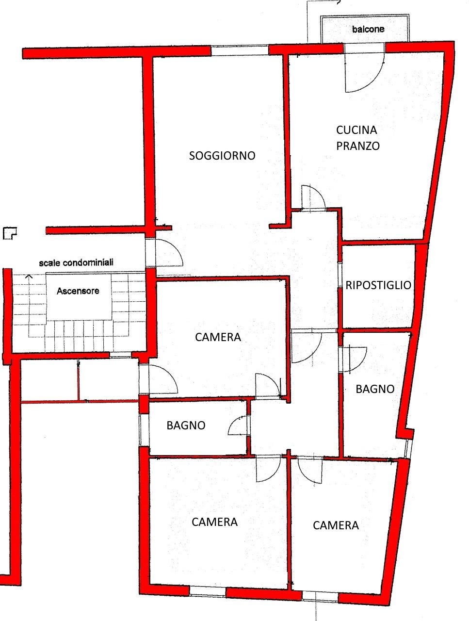 Appartamento in vendita, rif. 02175 (Planimetria 1/1)
