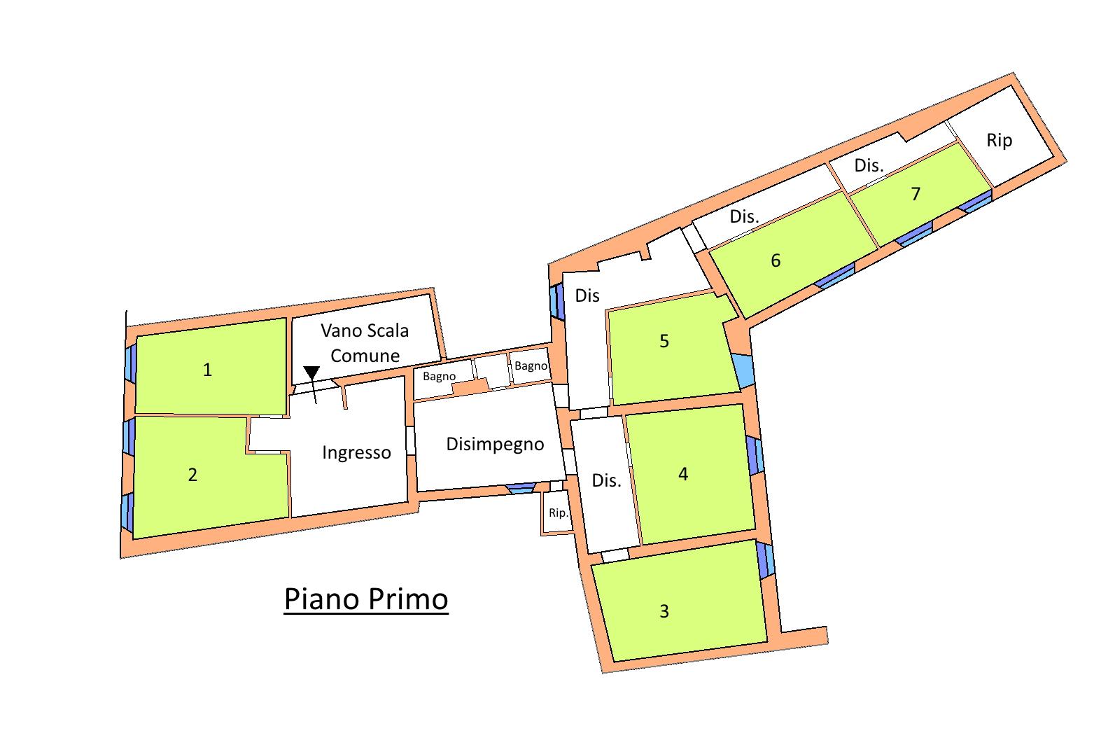 Appartamento in vendita, rif. 02180 (Planimetria 1/1)