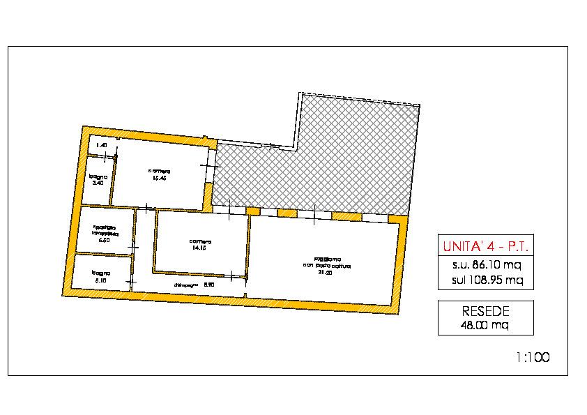 Appartamento in vendita, rif. 02230 (Planimetria 1/1)