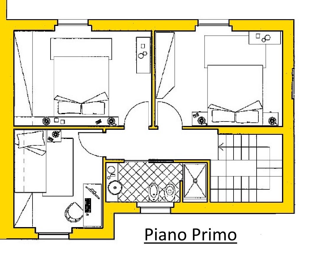 Villetta a schiera in vendita, rif. 02104/3 (Planimetria 2/3)