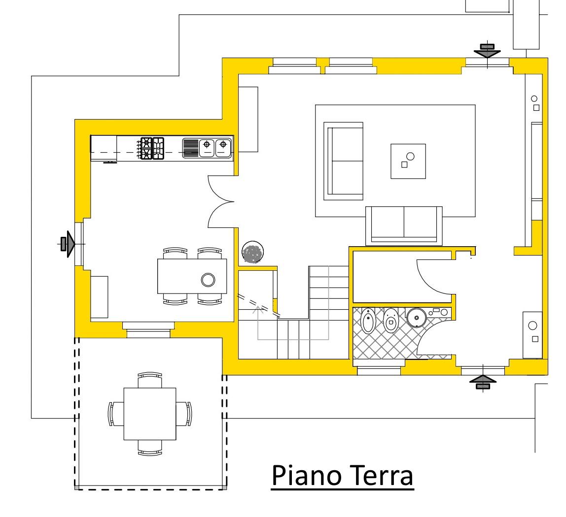 Villetta a schiera in vendita, rif. 02104/3 (Planimetria 1/3)